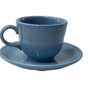 Fiesta Periwinkle Blue Teacup and saucer lot